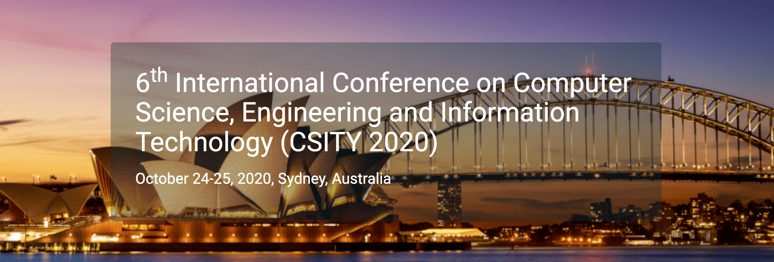 6th International Conference on Computer Science, Engineering and Information Technology (CSITY 2020)