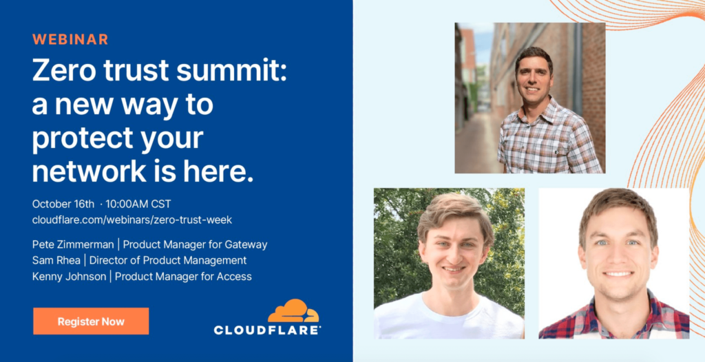 Cloudflare Zero Trust summit